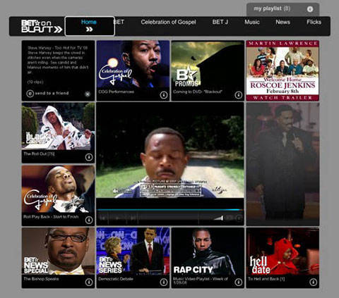 BET site media player
