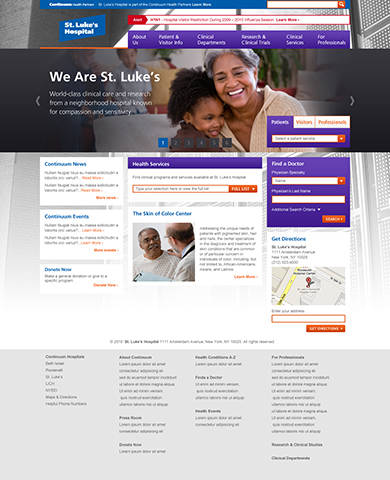 Continuum Health Partners site