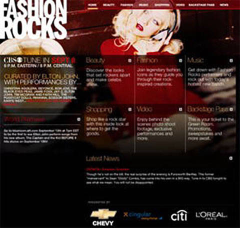 Fashion Rocks site