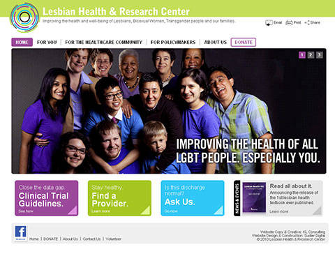 Lesbian Health Resource Center site