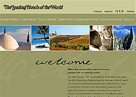 Leading Hotels of the World site