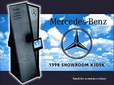 Mercedes-Benz showroom kiosk