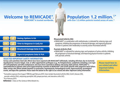 Remicade 2010 iPad app